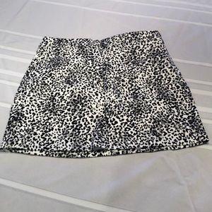 Forever 21 Animal Print Mini Skirt